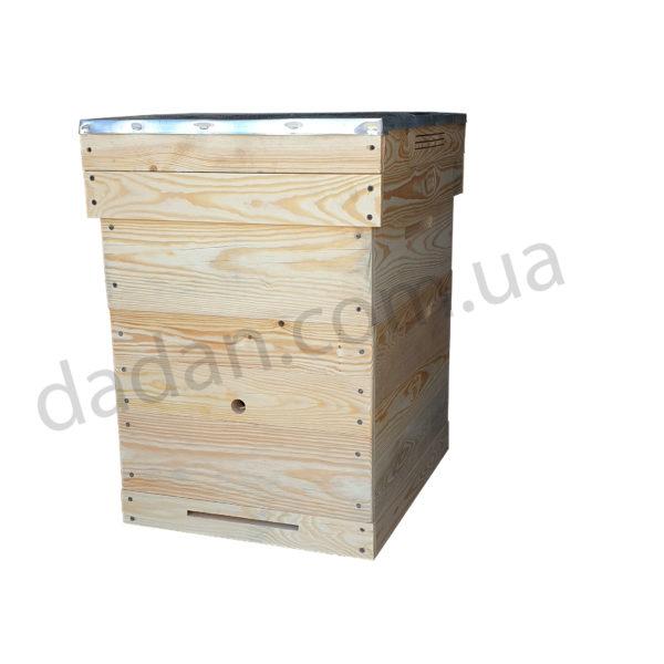 Однокорпусный улей Дадан 10 рамок с магазином